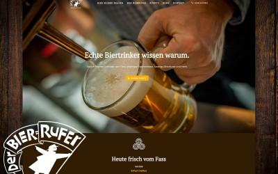 Der Bierrufer Erfurt: Titelbild Website