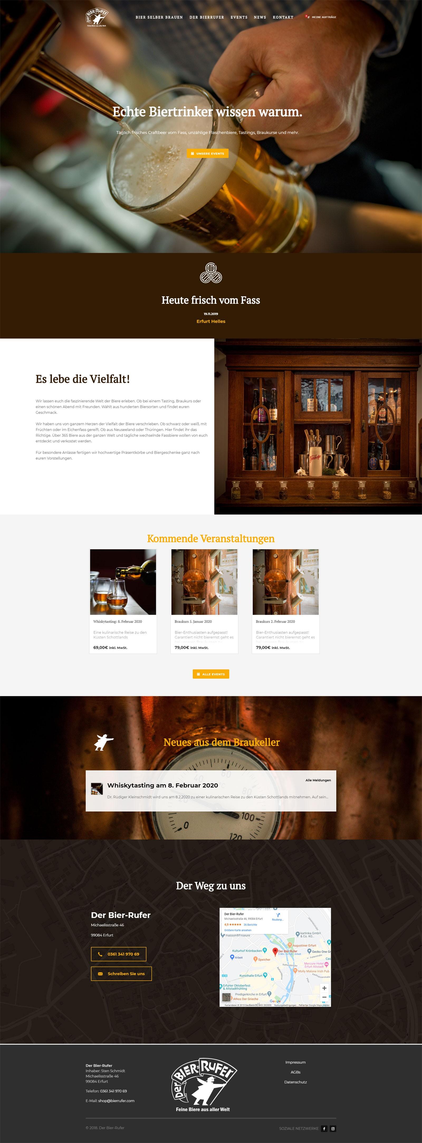 Der Bierrufer Erfurt: Website - Startseite
