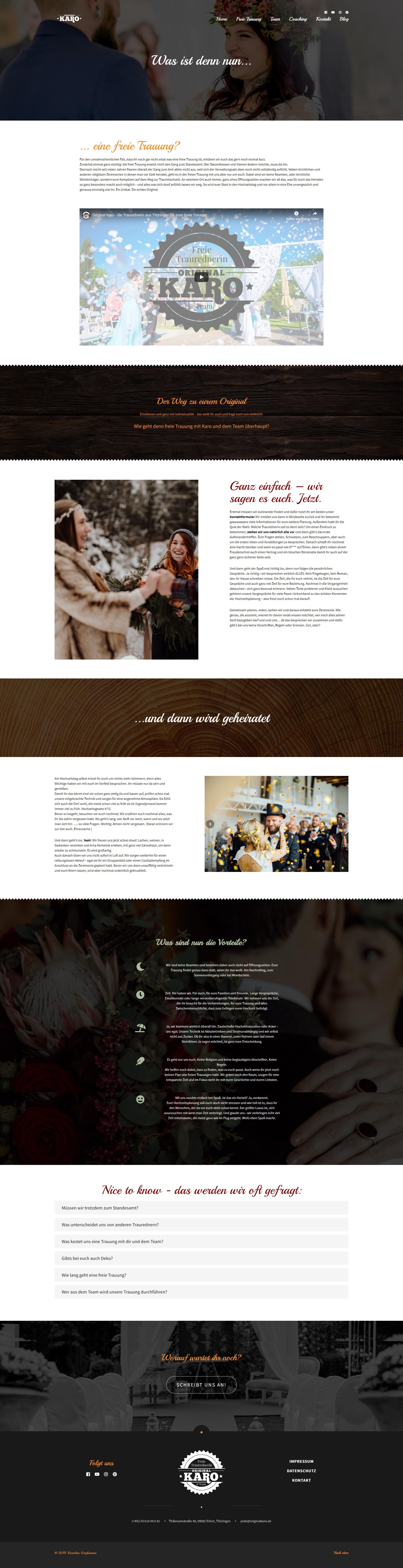 Website Original Karo Freie Traurednerin & Team
