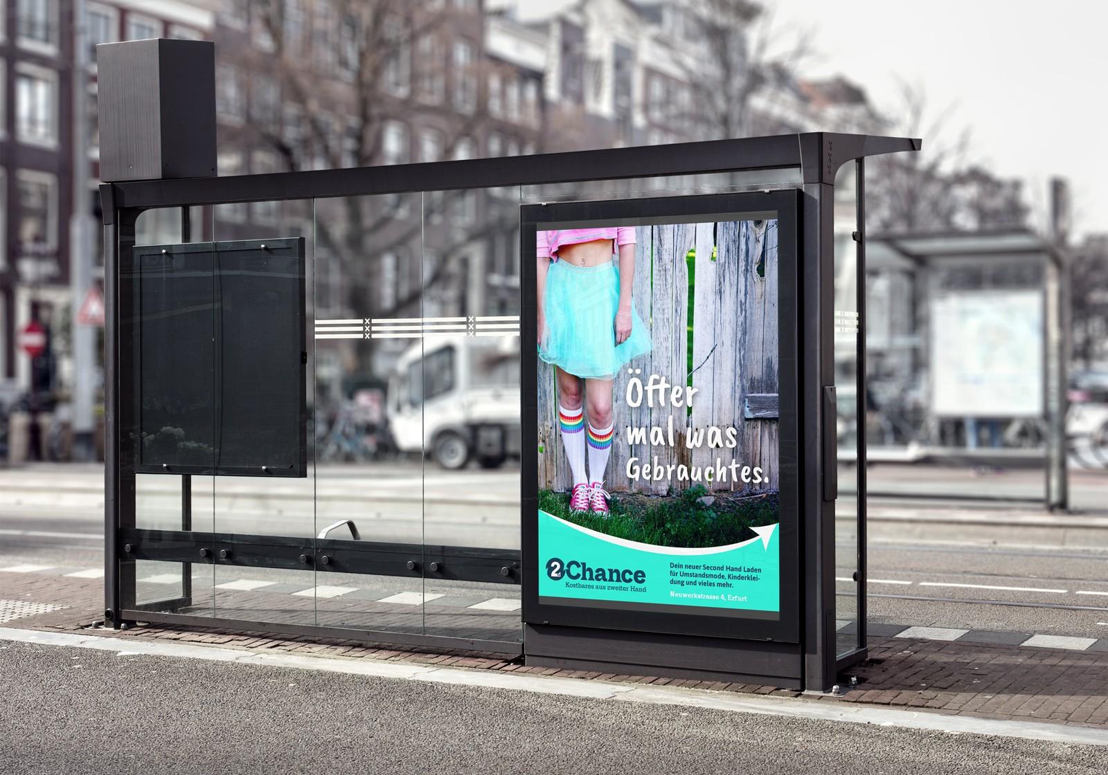 Plakatentwurf Zweite Chance Erfurt